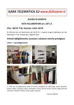 AVVISO DI VENDITA ASTA FALLIMENTARE art. 107 L.F. FALL. 36/19  Trib. Venezia- Lotto 12/18