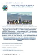 BOLLETTINO N. 14 DAL 05 APRILE AL 10 APRILE 2021