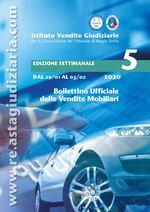 Bollettino ufficiale delle vendite Mobiliari dal 29/01/2020 all'05/02/2020