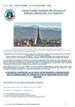 BOLLETTINO N. 21 DAL 14 SETTEMBRE AL 19 SETTEMBRE 2020