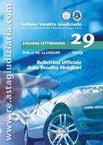 Bollettino ufficiale delle vendite Mobiliari dal 17/07/2019 al 24/07/2019