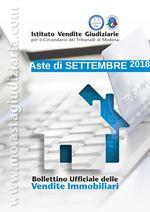 Bollettino Ufficiale delle Aste Giudiziarie Sezione Immobiliare Settembre 2018