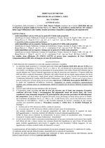 Procedura di accordo 01/2020 del 26/02/2021