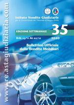 Bollettino ufficiale delle vendite Mobiliari dal 25/11/2020 al 02/12/2020
