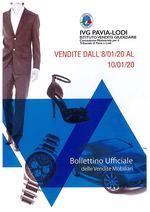 BOLLETTINO VENDITE DALL' 08/01/20 AL 10/01/20