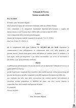 Decreto di apertura della procedura del piano del consumatore R.G. 4/2019