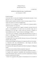 Decreto apertura liquidazione  R.G. 12/2021