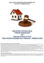 BOLLETTINO ASTE IMMOBILIARI DICEMBRE 2019 - GENNAIO - FEBBRAIO 2020
