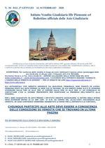 BOLLETTINO N. 4 DAL 27 AL 31 GENNAIO 2020