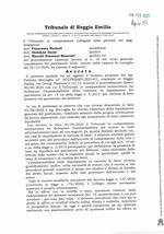 Decreto di apertura liquidazione del patrimonio N.10-2020