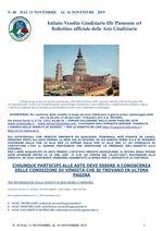 BOLLETTINO N. 40 DALL'11 AL 16 NOVEMBRE 2019