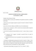 Decreto apertura liquidazione  R.G. 3/2021