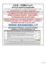 Bollettino Fallimento 24/19 - 04/19 Range Rover - Container - Attrezzatura
