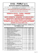 Bollettino Fallimento 63/18 - 02/19 Uffici - Torni - Presse - Carriponte