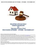 BOLLETTINO ASTE IMMOBILIARI SETTEMBRE - OTTOBRE - NOVEMBRE 2019