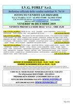 Bollettino aste 06 Dicembre