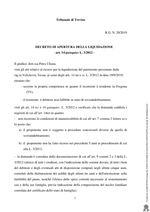 Decreto di apertura della liquidazione - art. 14 quinquies L.3/2012- R.G. N. 20/2019