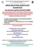 BOLLETTINO ASTE TELEMATICHE MOBILIARI CON VENDITA IN SCADENZA A PARTIRE DAL 25/11/2020