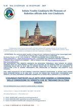 BOLLETTINO N. 2 DAL 13 AL 18 GENNAIO 2020