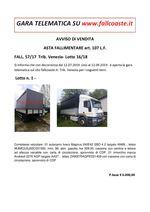AVVISO DI VENDITA ASTA FALLIMENTARE art. 107 L.F. FALL. 57/17  Trib. Venezia- Lotto 16/18