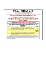 Bollettino Fallimento 30/18 - 04/18 Termoidraulica e Autocarri