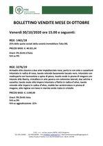 BOLLETTINO VENDITE OTTOBRE 2020