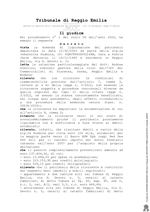 Decreto di apertura liquidazione del patrimonio VG N.1-2020