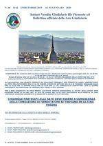 BOLLETTINO N. 46 DAL 23 DICEMBRE 2019 AL 04 GENNAIO 2020