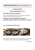 AVVISO DI VENDITA ASTA FALLIMENTARE art. 107 L.F. FALL. 84/18  Trib. Venezia- Lotto 21/18