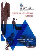BOLLETTINO VENDITE DAL 16/11/2020 AL 20/11/2020