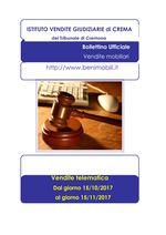 BOLLETTINO VENDITA TELEMATICA DAL 15/10/2017 AL 15/11/2017