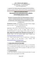 Composizione della crisi da sovraindebitamento RG n. 7074/2018 decreto del 28/02/2019