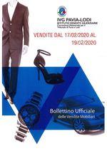 BOLLETTINO VENDITE DAL 17/02/2020 AL 19/02/2020