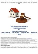 BOLLETTINO PROVVISORIO ASTE IMMOBILIARI LUGLIO-AGOSTO-SETTEMBRE 2020