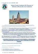 BOLLETTINO N. 14 DAL 22 AL 27 GIUGNO 2020
