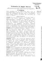 Decreto definizione procedura composizione della crisi da sovraindebitamento mediante omologa del piano del consumantore RG 7/2019