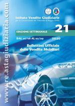 Bollettino ufficiale delle vendite Mobiliari dal 26/08/2020 al 02/09/2020