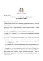 Decreto apertura liquidazione  R.G. 13/2021