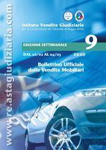 Bollettino ufficiale delle vendite Mobiliari dal 26/02/2020 all'04/03/2020