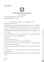 Composizione della crisi da sovraindebitamento 5/2020 - Decreto di apertura