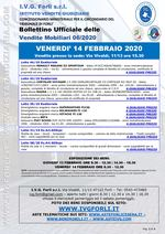 Bollettino aste 14 Febbraio