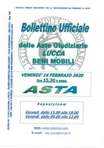 BOLLETTINO MOBILIARE ASTA 14/02/2020