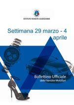 Bollettino vendite mobiliari | 29 marzo - 4 aprile 2021