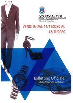 BOLLETTINO VENDITE DAL 11/11/2020 AL 13/11/2020