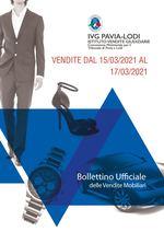 BOLLETTINO VENDITE DAL 15/03/2021 AL 17/03/2021