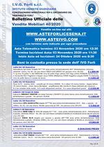 Bollettino aste OnLine termine 03 Novembre 2020