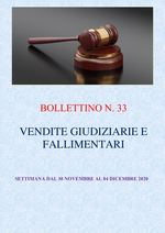 BOLLETTINO N. 33 - ASTE GIUDIZIARIE E FALLIMENTARI