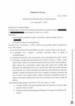 Decreto apertura liquidazione del patrimonio  R.G. 31/19