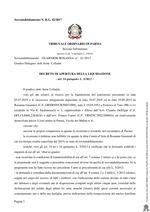 Composizione della crisi da sovraindebitamento n. 42/2017 - Decreto apertura