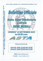 BOLLETTINO MOBILIARE ASTA 13/09/2019